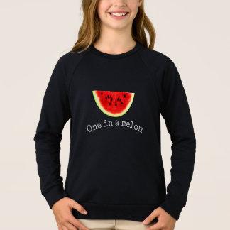Chemise 2 de pastèque d'été dans melon de la fille sweatshirt