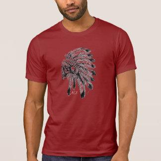 Chemise A&J rouge Indien crâne T-shirt