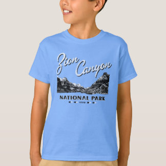 Chemise affligée de parc national de canyon de t-shirt