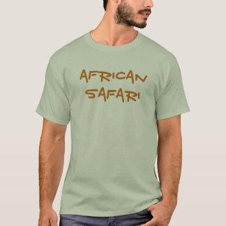 Chemise africaine de gris de safari t-shirt