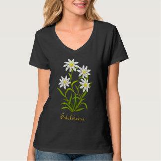 Chemise alpine de fleurs d'edelweiss suisse t-shirts
