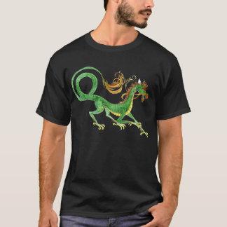 Chemise asiatique verte de dragon t-shirt