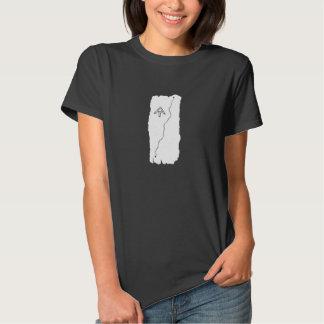 Chemise blanche de flamme t-shirts