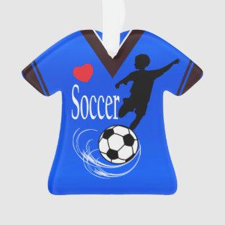 Chemise bleue de ballon de football
