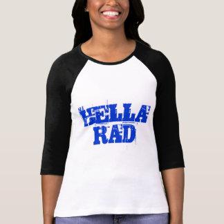 Chemise bleue de Hella rad des textes T-shirt