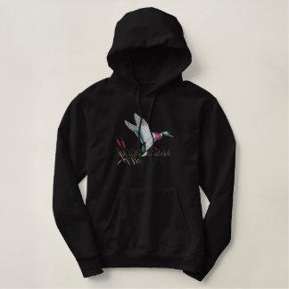 Chemise brodée par chasse de canard sweatshirt avec capuche