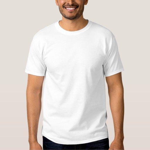 Blanc Embroidered T-shirt basique brodés pour homme