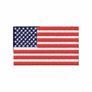 Chemise brodée par drapeau des Etats-Unis Polo
