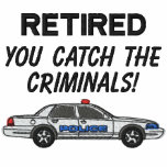 Chemise brodée par police retirée