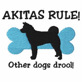 Chemise brodée par règle d'Akitas (T-shirt)