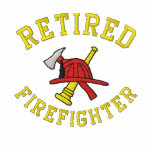 Chemise brodée par sapeur-pompier retirée sweats à capuche