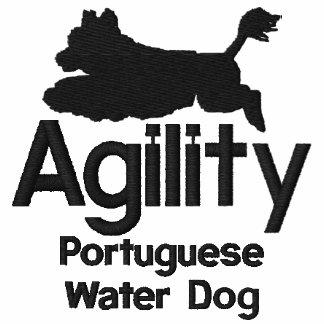 Chemise brodée portugaise de chien d eau d agilité