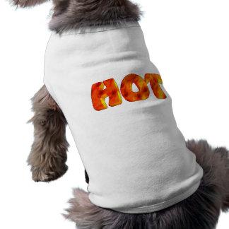 Chemise chaude de chien de flammes t-shirt pour chien