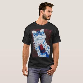 Chemise chinoise bleue de danse de lion t-shirt