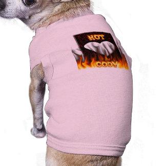 Chemise cody chaude du feu et de chien de flammes manteaux pour animaux domestiques