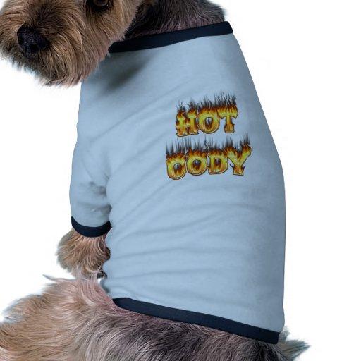 Chemise cody chaude du feu et de chien de flammes manteaux pour chien