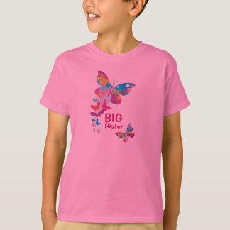 Chemise colorée de GRANDE soeur de papillons T-shirt