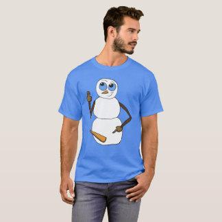 Chemise cornée de bonhomme de neige t-shirt
