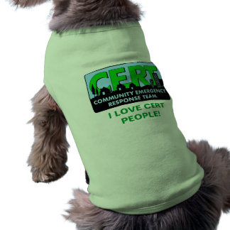 Chemise-couleurs de chien de CERT T-shirt Pour Chien
