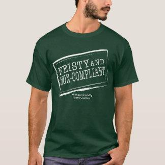 Chemise courageuse de couleur foncée t-shirt
