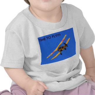 Chemise courte infantile volante de douille t-shirt