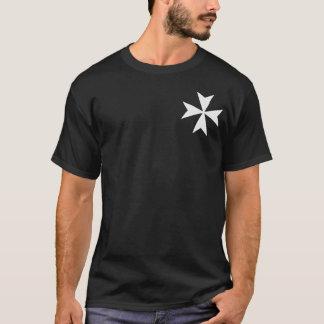 Chemise croisée de Hospitaller de chevaliers T-shirt