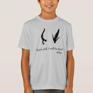 Chemise croulante de trempoline de la gymnastique T-Shirt