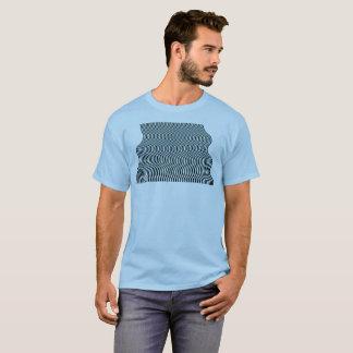 Chemise d'algorithme du courant 06 d'art op t-shirt
