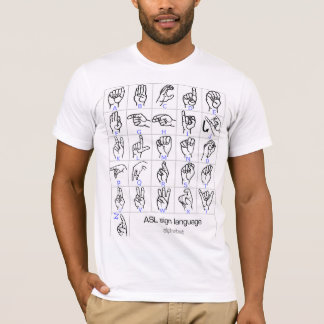 Chemise d'ALPHABET de LANGUE DES SIGNES T-shirt