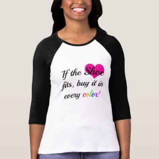 Chemise d'amant de chaussure t-shirt