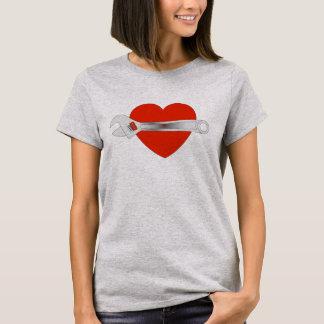 Chemise d'amour d'éclairage t-shirt