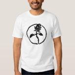 Chemise d'anarchie de rose de noir t-shirt