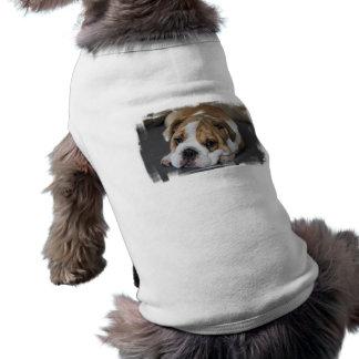 Chemise d'animal familier de bouledogue de sommeil t-shirt pour chien