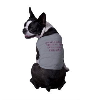 """chemise d'animal familier """"jetez boule"""" t-shirt pour chien"""