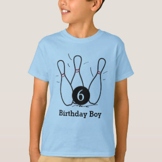 Chemise d'anniversaire de bowling t-shirt