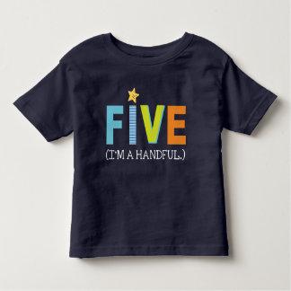 Chemise d'anniversaire pour cinq t-shirt pour les tous petits