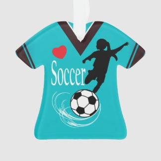Chemise de ballon de football de fille de