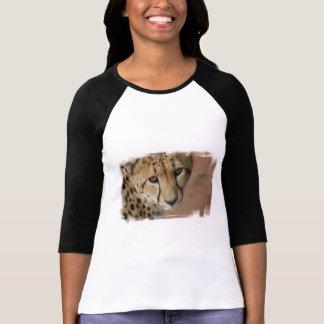 Chemise de base-ball de chat de guépard t-shirt