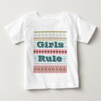Chemise de bébé de règle de filles t-shirts