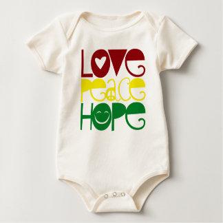 Chemise de bébé, espoir de paix d'amour body