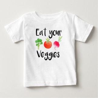 """Chemise de bébé """"mangez de votre légume"""" t-shirt pour bébé"""