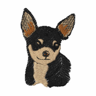 Chemise de broderie d'art de chien de chiwawa