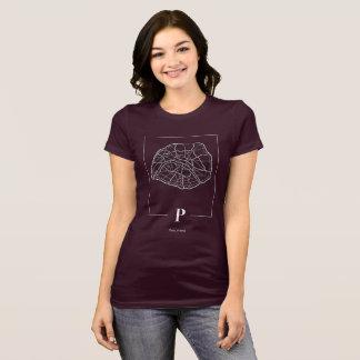 Chemise de carte de Paris T-shirt