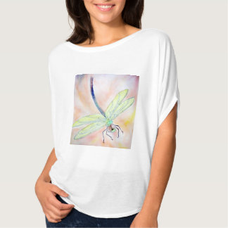 Chemise de cercle de Flowy des femmes de libellule T-shirt