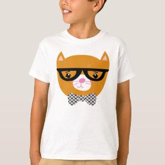 Chemise de chat de hippie avec les verres et la t-shirt