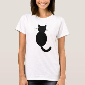 Chemise de chat noir t-shirt