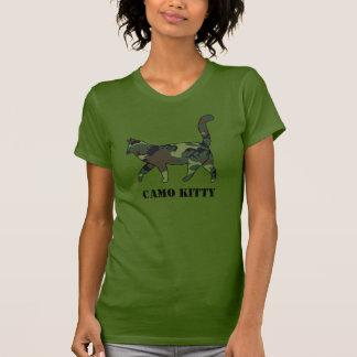 Chemise de chat remplie par motif de dames Camo T-shirt