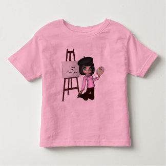 Chemise de chevalet de fille d'artiste t-shirt