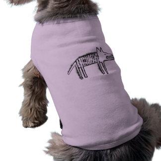 Chemise de chien avec un loup drôle t-shirt pour chien