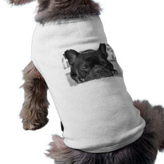Chemise de chien de bouledogue français t-shirt pour chien